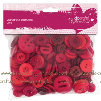 Набор пуговиц Assorted Buttons - Red