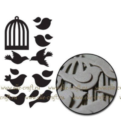 Набор чипборда Birds and Cages