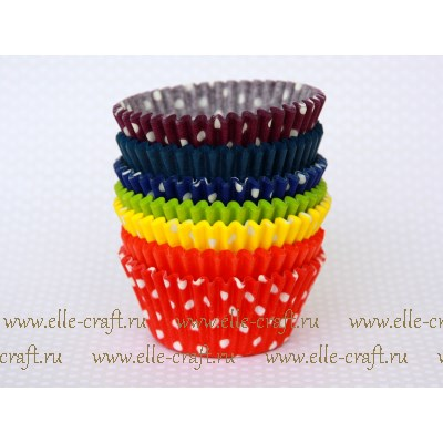 Набор бумажных форм Party-mix - Rainbow solids and polka dot