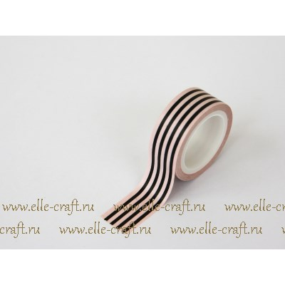 Декоративный скотч Black and Pink Stripe, коллекция Chalk Studio