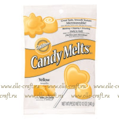 Тающие конфетки Wilton Candy Melts - желтые