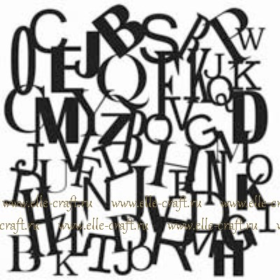 Маска-трафарет Letters Collage - мини