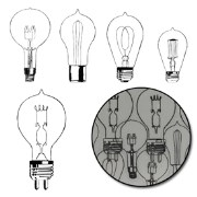 Набор прозрачных украшений Eureka Light Bulb Transparencies - Black