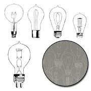 Набор прозрачных украшений Eureka Light Bulb Transparencies - White