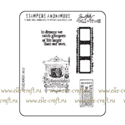 Набор штампов Tim Holtz by Stampers Anonymous - Captured Moments
