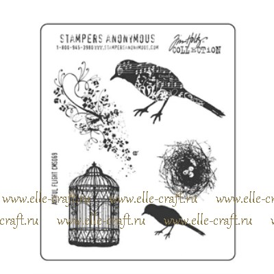 Набор штампов Tim Holtz by Stampers Anonymous - Artful Flight