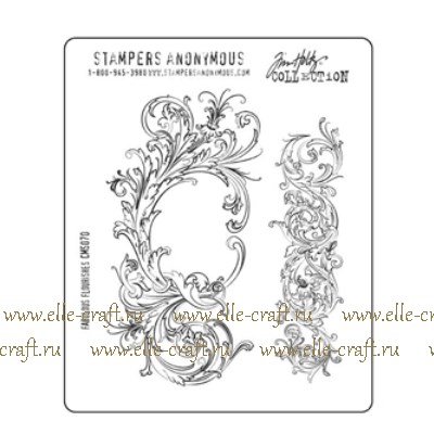 Набор штампов Tim Holtz by Stampers Anonymous - Fabulous Flourishes