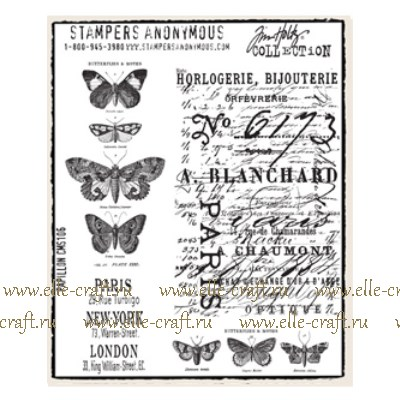 Набор штампов Tim Holtz by Stampers Anonymous - Papillon
