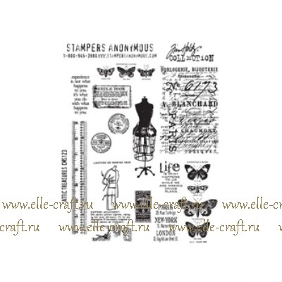 Набор штампов Tim Holtz by Stampers Anonymous - Attic Treasures