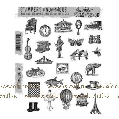 Набор штампов Tim Holtz by Stampers Anonymous - Tiny Things