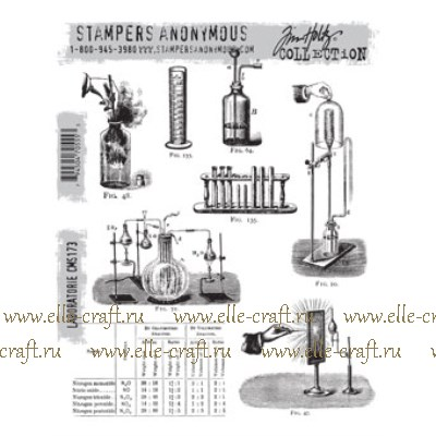 Набор штампов Tim Holtz by Stampers Anonymous - Laboratorie