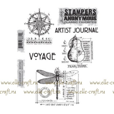Набор штампов Tim Holtz by Stampers Anonymous - Classics #1