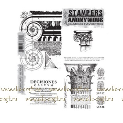 Набор штампов Tim Holtz by Stampers Anonymous - Classics #2
