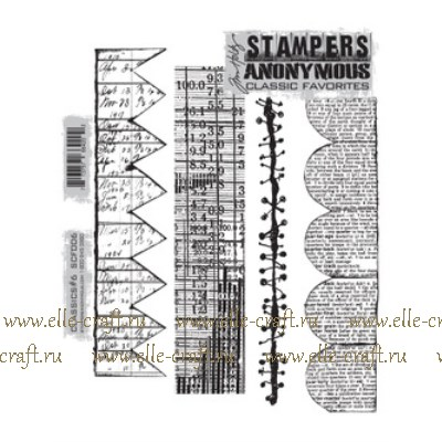 Набор штампов Tim Holtz by Stampers Anonymous - Classics #6