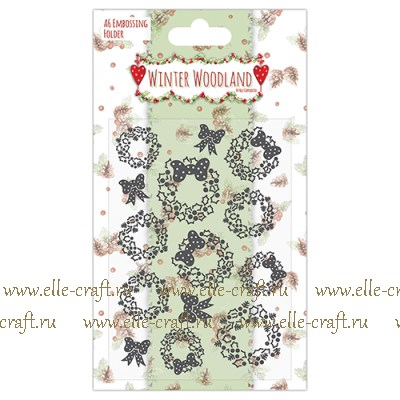 Пластина для эмбоссирования Сhristmas chaplet, Winter Woodland