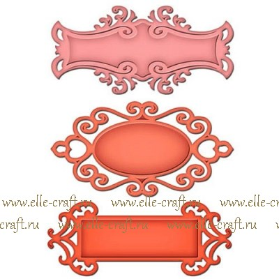Формы для вырубки Spellbinders Fancy Tags Two