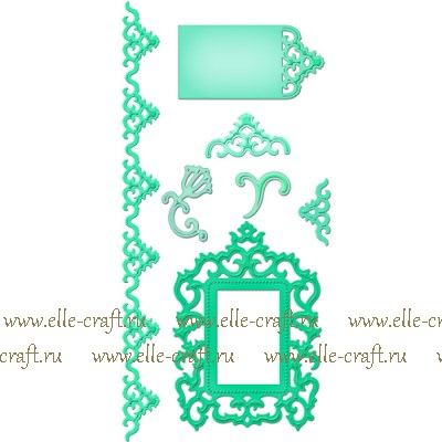 Формы для вырубки Spellbinders Antique Frame and Accents