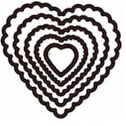 Формы для вырубки Scrapberry's Hearts Doily